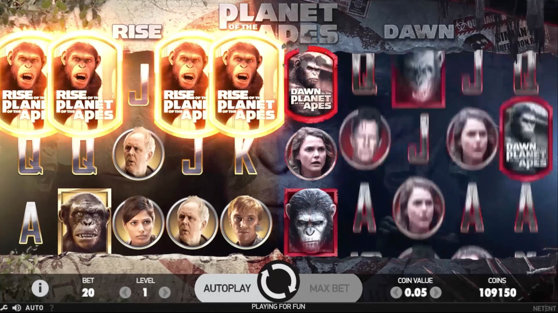 the planet of the apes slot