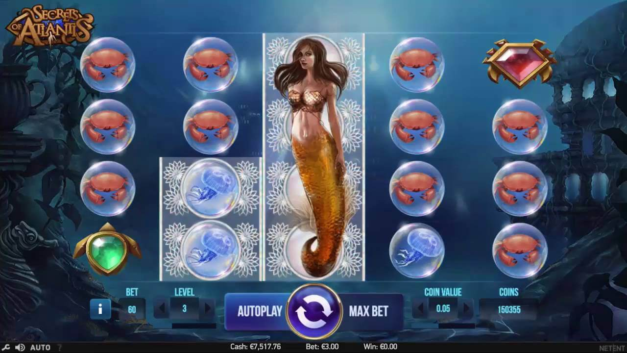 secrets of atlantis slot review netent casinos